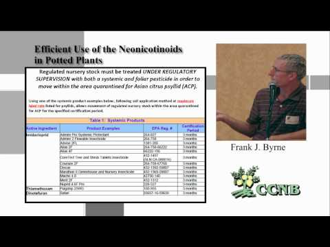 Efficient Use of Neonicotinoids in Potted Plants