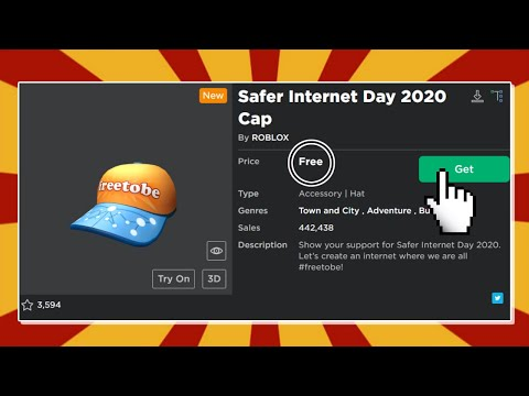 Free Secret Hat Roblox Safer Internet Day 2020 Cap Youtube