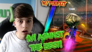 PLAYING AGAINST A GRAND CHAMP | W/*INSANE* Forfeit | Rocket League