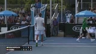 2017.01.17 - Теннис - Australian Open. А. Долгополов (Украина) - Б. Чорич (Хорватия)