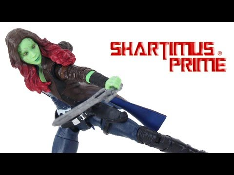 Marvel Legends Gamora Mantis BAF Guardians of the Galaxy Vol 2 Wave Action Figure Toy Review