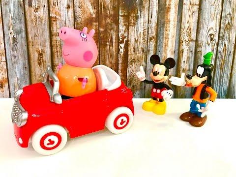 Bajka Świnka Peppa po polsku - Myszka Miki i jego auto