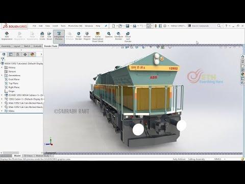 Solidworks Train Modelling Tutorials - S01 E03: EMD Locomotive Body Part 3 [English]