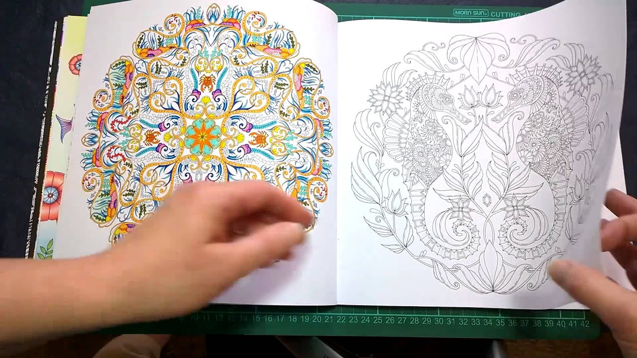 Colouring Book Review Lost Ocean Walk Through With Tips And Coloured Pages Youtube