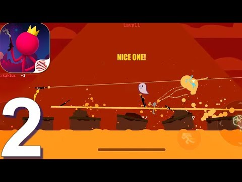 Stick Fight: The Game Mobile - Gameplay Walkthrough Part 2 (Android, iOS Game) - 동영상