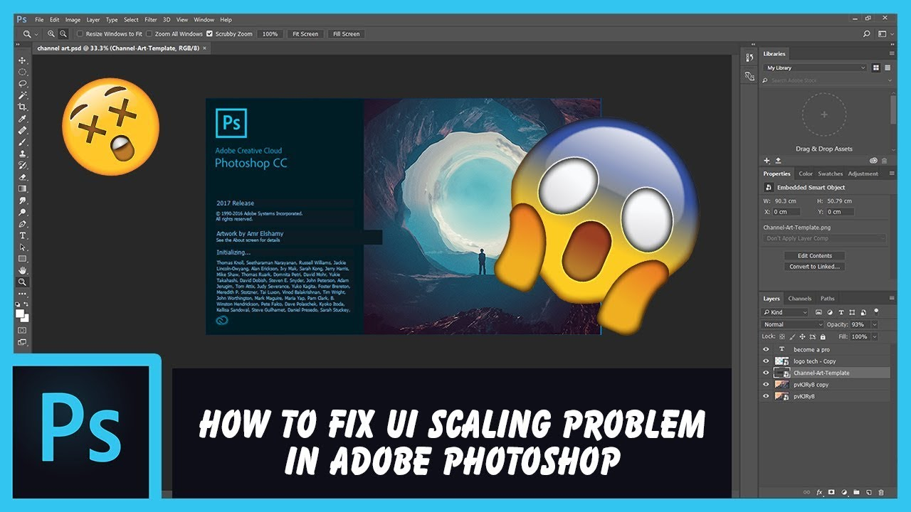 How to fix Adobe Photoshop UI scaling problem on high DPI displays | HD, 1080p, 4K