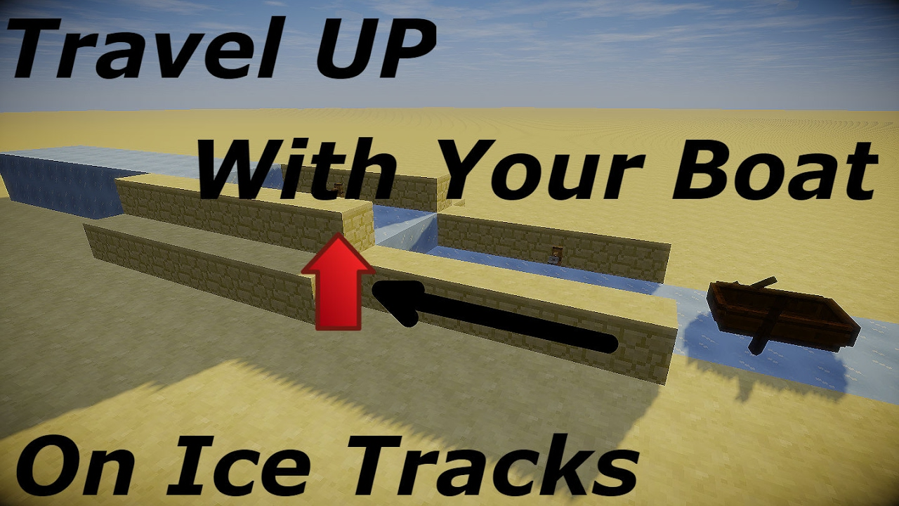 Minecraft Travel Upwards On Your Ice Boat Track Youtube Blue ice has no known uses in crafting. minecraft travel upwards on your ice boat track