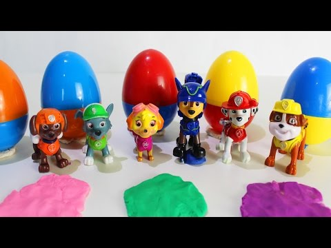 ЩЕНЯЧИЙ ПАТРУЛЬ Яйца сюрпризы Развивающие мультики для малышей про игрушки для детей Учим цифры