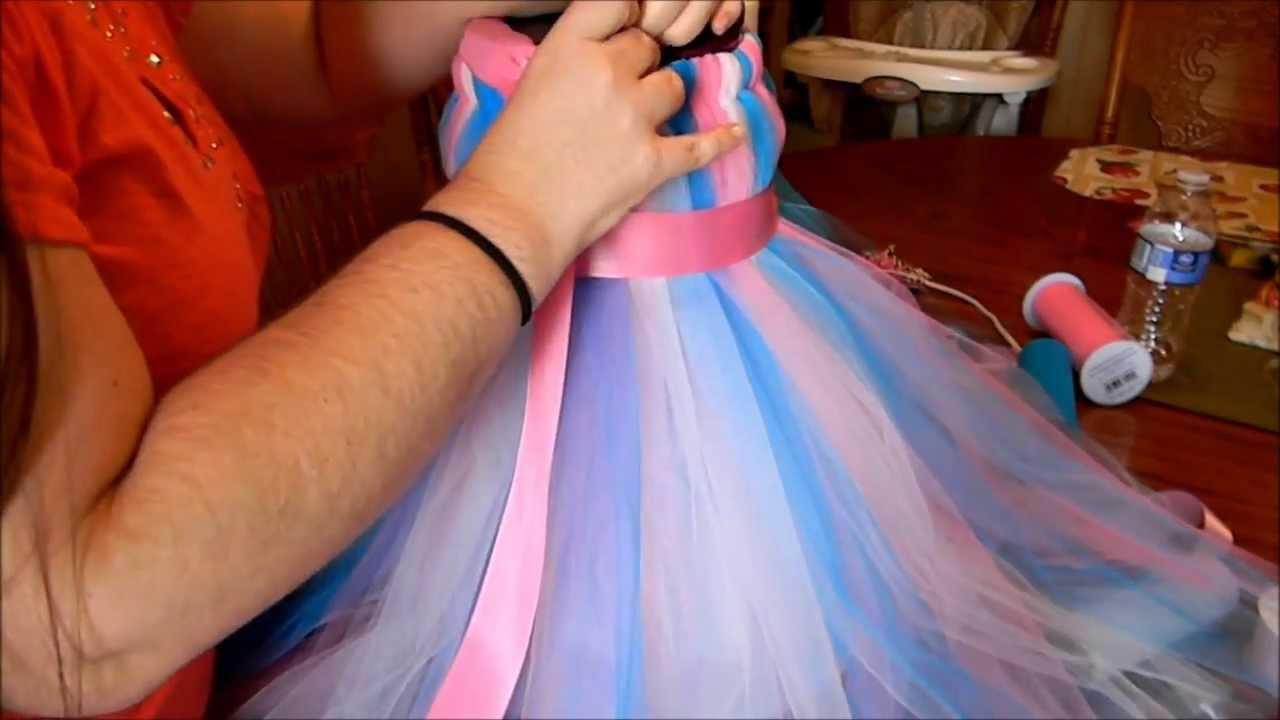 How To Make A Tutu Dress YouTube - How to make designer dress at home
