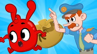 My Magic Pet Morphle - Morphle Robs A Bank! | Full Episodes | Funny Cartoons for Kids | Moonbug TV