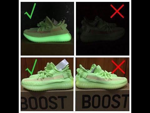 Real VS Fake Yeezy 350 V2 GID Glow in