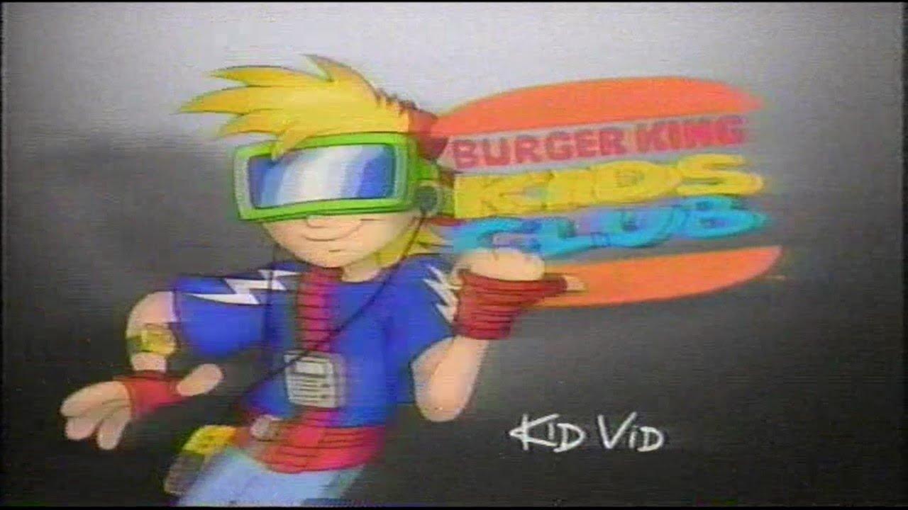Burger King BK Kids' Club 90s Era Commercial