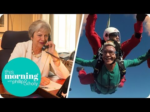 Phillip Skydives to the Studio With the Help of Theresa May | This Morning