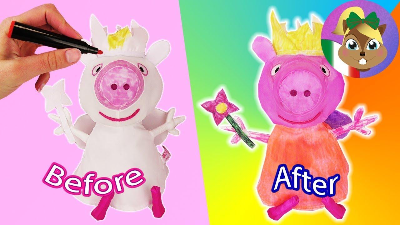 Peluche Da Colorare: PEPPA PIG - Peluches Da Colorare E Inventare