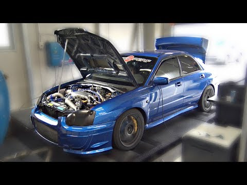 INSANE Subaru Impreza STi 2.1L Stroker on the DYNO!! - 805HP @ 29psi BOOST!!