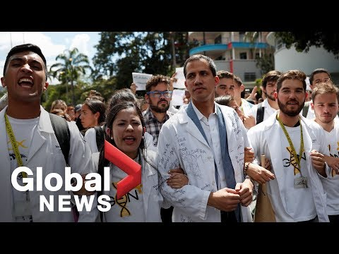 Venezuela's Guaidó joins workers in mass walkouts protesting Maduro