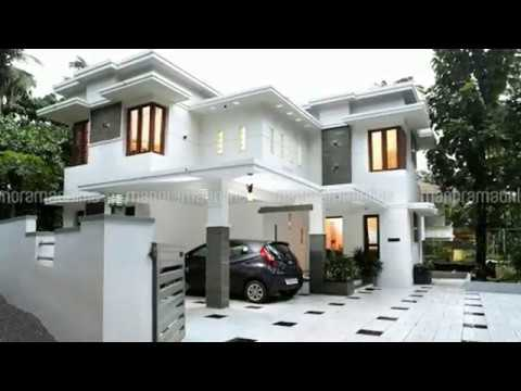 Double floor house for 15 lakh modern home design for Best village house designs