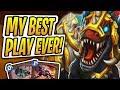 Best F#*KING PLAY OF MY HEARTHSTONE CAREER! | Brawliseum | Rastakhan's Rumble | Hearthstone