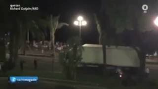 Video of Truck accelerating into crowd in Nice, France