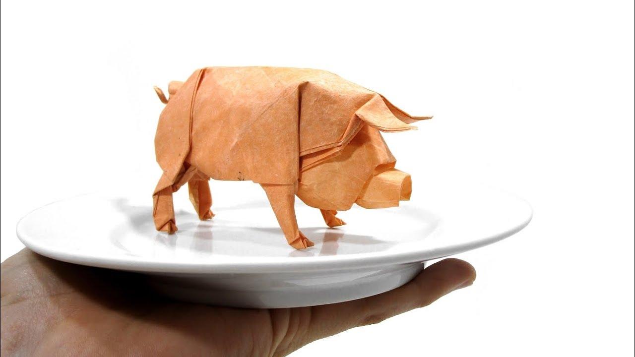 ORIGAMI PIG TUTORIAL (Ronald Koh) 折り紙 豚 CERDO CHANCHO ... - photo#32