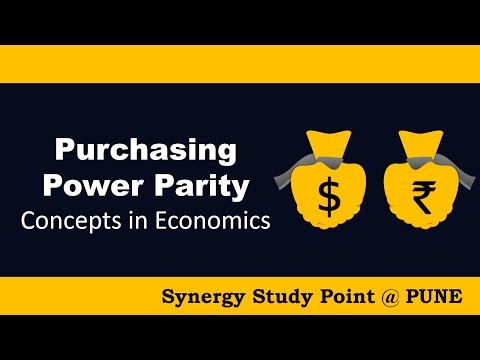 Purchasing Power Parity (PPP) Concepts in Economics