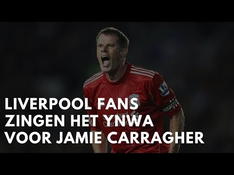 • Liverpool fans singing You'll Never Walk Alone for Jamie Carragher