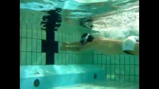 DTT Under water view. 水中両サイドから撮影してくっつけてみました。...