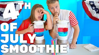 4th of JULY SMOOTHIE CHALLENGE | Piper Rockelle