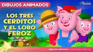 Video Los Tres Cerditos y El Lobo Feroz - cuentos infantiles en Español download MP3, 3GP, MP4, WEBM, AVI, FLV November 2018