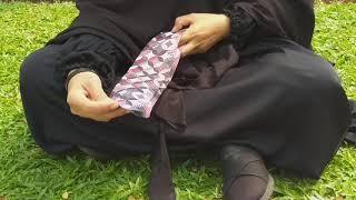 Cara pakai & panjang kaos kaki printing