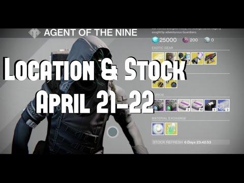 "Destiny ""Xur's Stock & Location"" (April 21-22, 2017)"