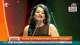 Antalya Film Festivali En İyi Kadın Oyuncu: Nuray Yeşilaraz