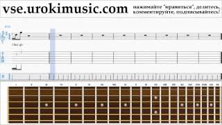 Как играть на Гитаре Passenger Let Her Go часть 2 самоучитель уроки обучение ноты школа курсы