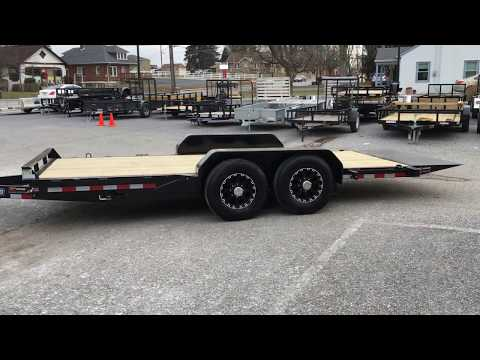 Sure Trac Gravity Tilt Equipment Trailer Lowboy Hauler 7x18' 14000# GVW