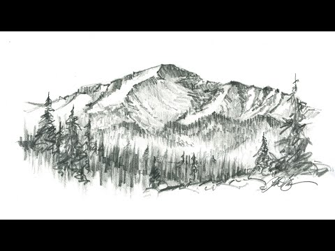 Beautiful Mountain Drawing By 10 Year Old