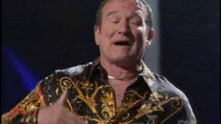 VERY FUNNY Robin Williams On American Idol Gives Back 2008 thumbnail