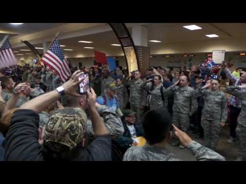 Honor Flight April 2017 Welcome Home