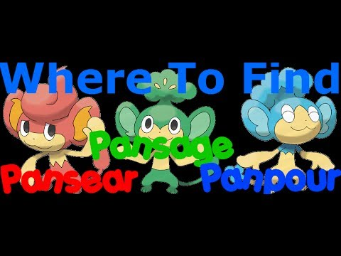 Pokemon X And Y-Where To find Pansage,Pansear And Panpour ...Pokemon Pansear Evolution Chart
