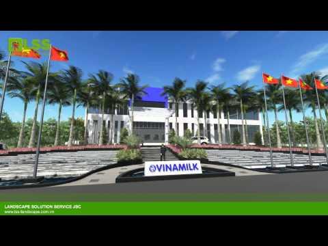 VINAMILK FACTORY LANDSCAPE - DESIGN BY LSS - GIẢI PHÁP CẢNH QUAN