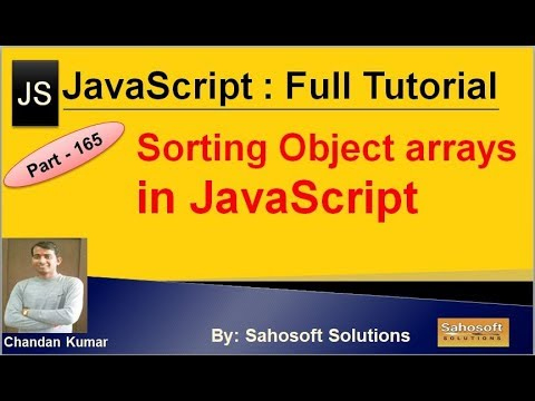 Sorting Object Arrays in JavaScript | JavaScript Full Tutorial in Hindi thumbnail