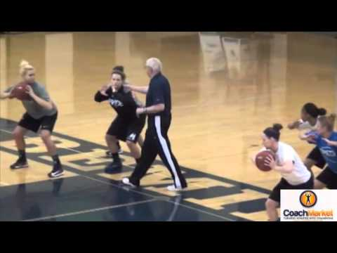 Basketball Passing Footwork Drill/ Long whistle  Jerry Krause  www.coachmarket.net Video