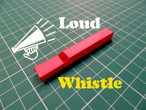 How to Make a Paper Whistle that Works Great - Easy Tutorials