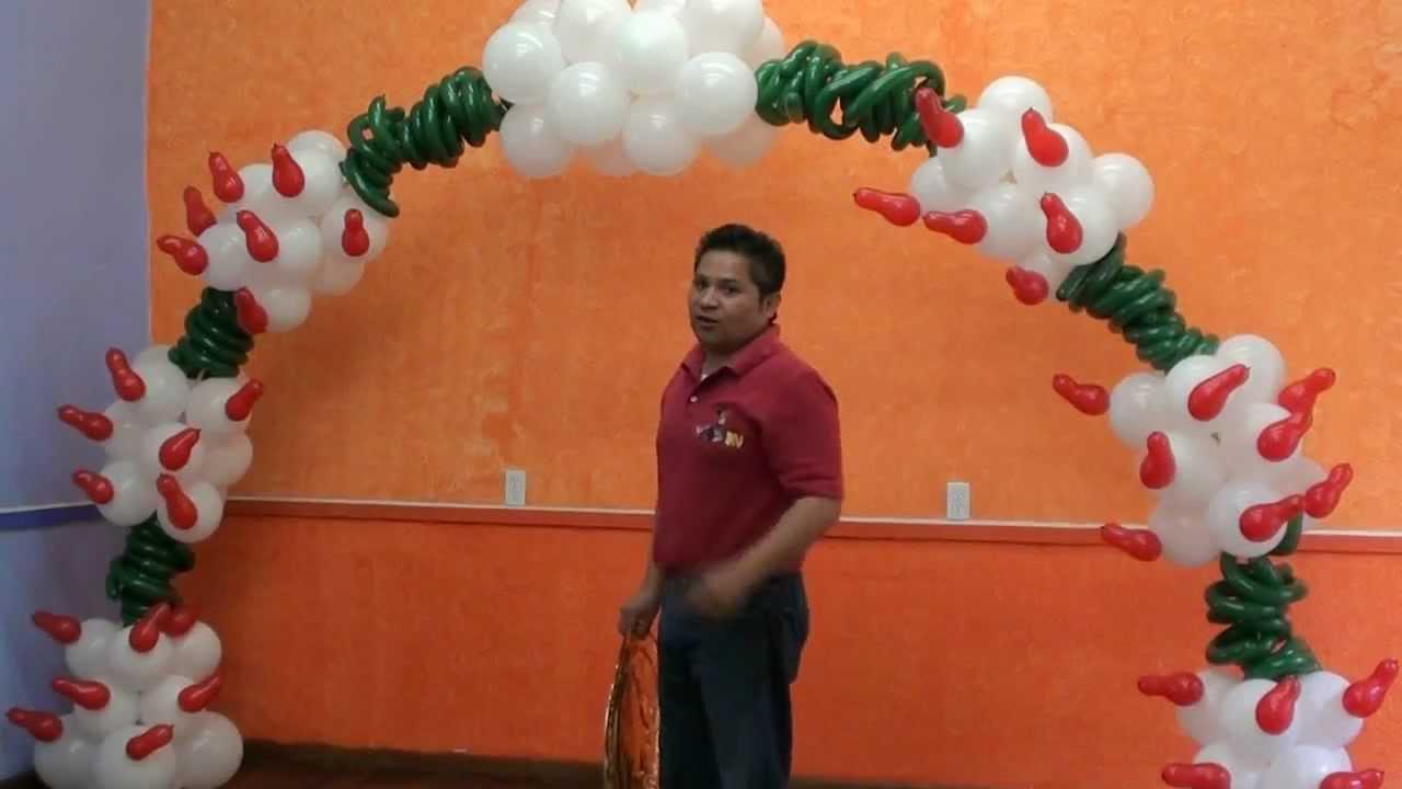Arco con globos mexicano globosilusion youtube - Marcos de papel para fotos ...