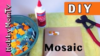 Diy How To Mosaic Tile | Fast Easy Beginners Tutorial Plaques By Hobbymomtv