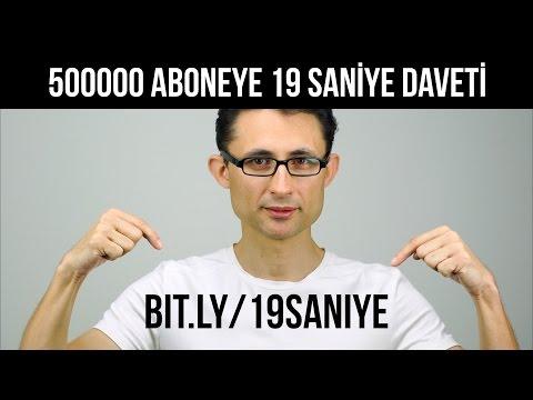 500000 Aboneye 19 Saniye Daveti