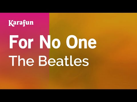 Karaoke For No One - The Beatles *