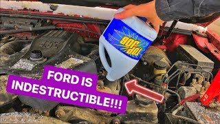 Attempting To BLOW UP Ford EXPLORER ENGINE With BLEACH!!!