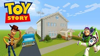 """Minecraft Tutorial: How To Make Andys House From Toy Story """"Toy Story 4"""""""