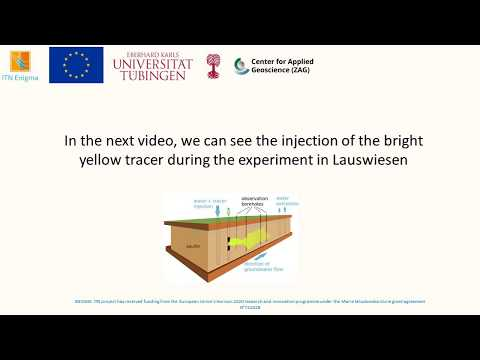Experimental tracer test with geophysical monitoring by Veronika Rieckh