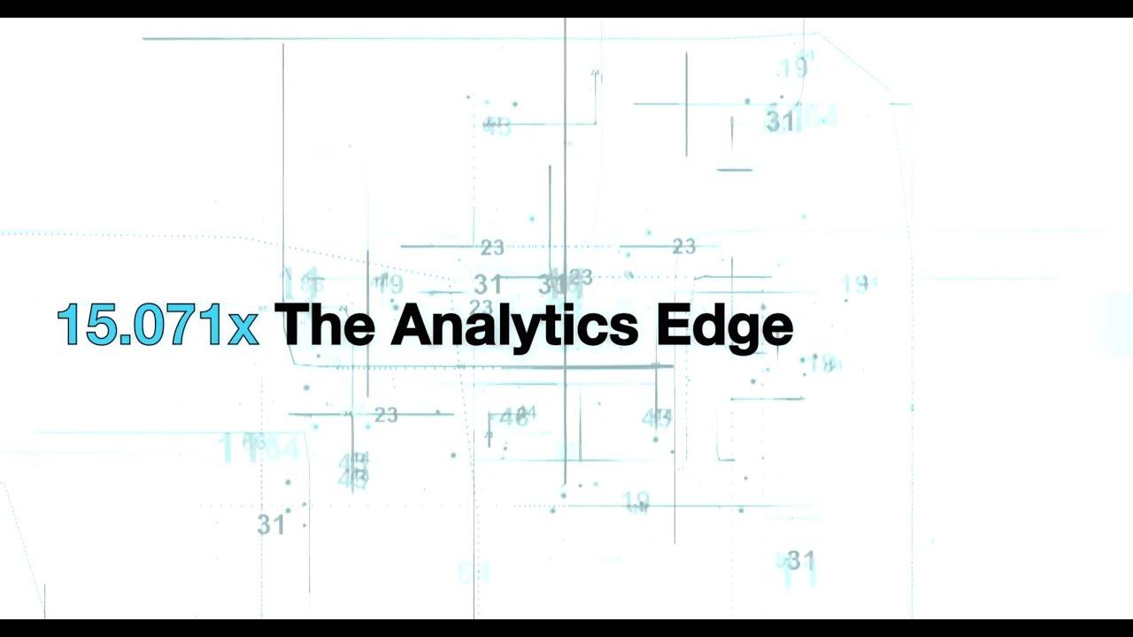 The Analytics Edge | edX